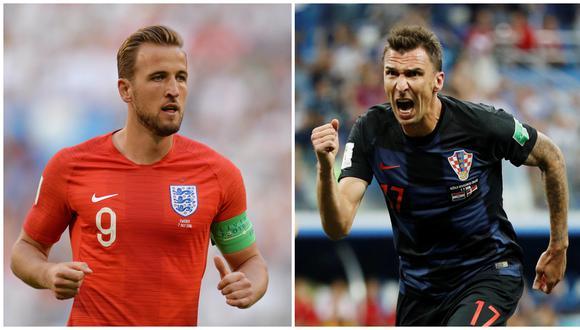 Inglaterra vs. Croacia: día, hora y canal del duelo por semifinal del Mundial Rusia 2018. (Foto: AFP)