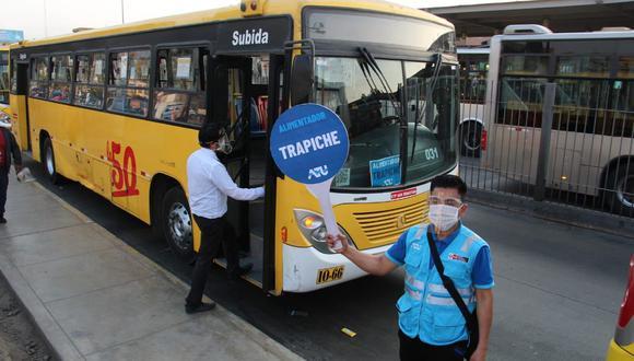La ATU indicó que empresas de transporte público también prestarán servicio en las rutas que cubre el Metropolitano. (Foto: ATU)