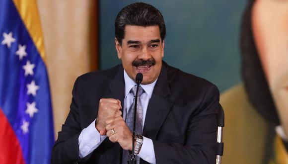 """Nicolás Maduro felicita a Ecuador por """"histórica victoria"""" contra el FMI. (EFE/Rayner Peña)."""