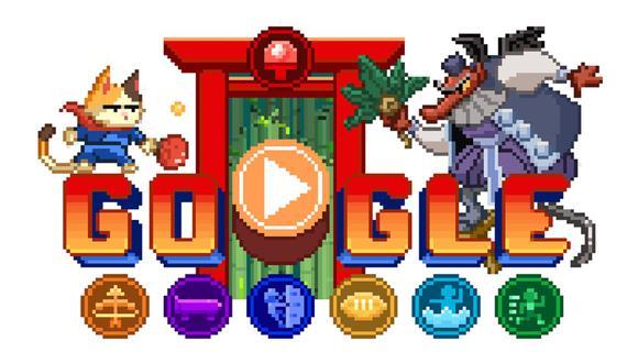 El nuevo doodle de Google ofrece una introducción al estilo anime, donde se nos presenta la existencia de una 'Isla de los Campeones'. (Captura / Google)