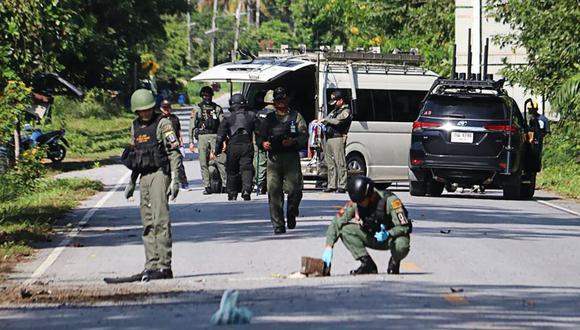 Como es habitual en los ataques en el sur de Tailandia, este aún no ha sido reivindicado por alguno de los grupos rebeldes que actúan en la región. (Foto: AFP)