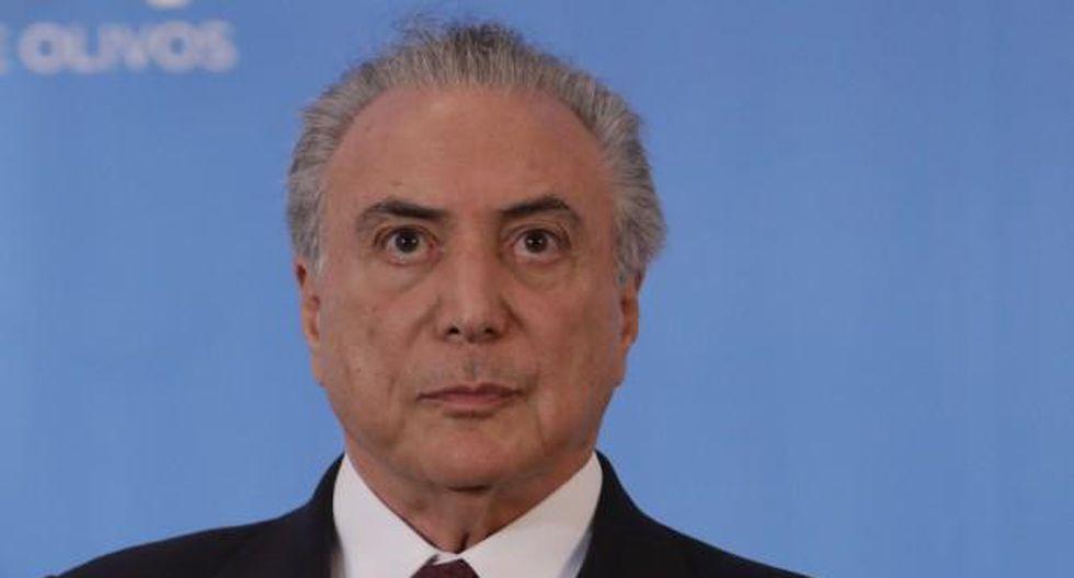 """Michel Temer: Juicio en mi contra """"desestabiliza"""" a Brasil"""