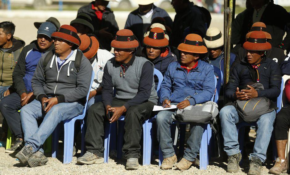 """""""Espacio de diálogo y cumplimiento de compromisos para el desarrollo en la zona de influencia del proyecto minero Las Bambas"""" (Foto: PCM)"""