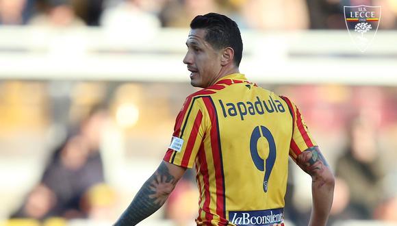 Luego de su doblete frente al Napoli, el nombre de Gianluca Lapadula volvió a sonar para la selección peruana. (Foto: @OfficialUSLecce)
