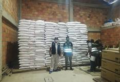 Madre de Dios: policía incauta alimentos de primera necesidad que habrían llegado de Bolivia como contrabando