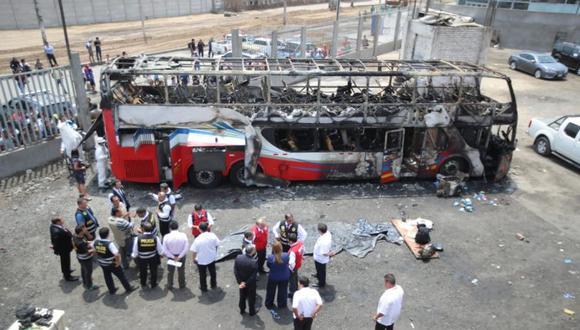 El Ministerio Público culminó con el proceso de identificación de las víctimas un día después de ocurrida la tragedia. (GEC)