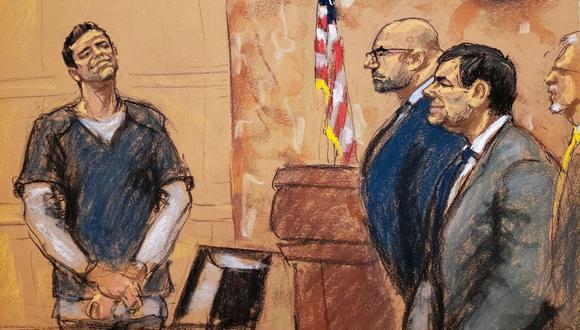 Finalizaron los tres días de testimonio de la mano derecha de 'Mayo' Zambada en el juicio de 'El Chapo' Guzmán. (EFE).