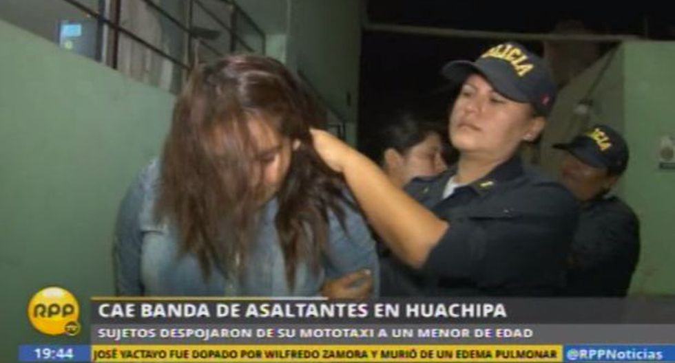 Huachipa: dos mujeres integraban banda que robaba mototaxis