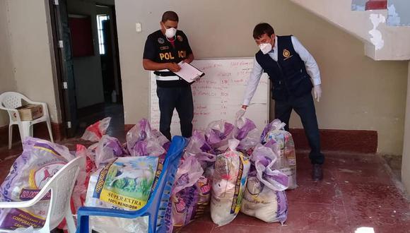 La Fiscalía incautó las conservas que se repartían en las canastas en Pacora, Lambayeque, y serán sometidas y peritaje. (Foto:  Ministerio Público)