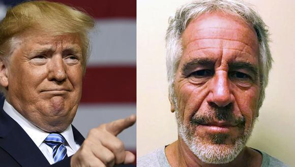 Donald Trump ha retuiteado un mensaje sobre la teoría conspirativa que señala que Bill Clinton y los demócratas están detrás de la muerte de Jeffrey Epstein. (AP / AFP).
