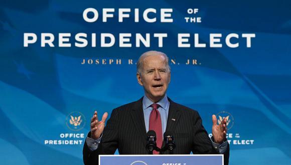 El presidente electo de Estados Unidos, Joe Biden, instó al Senado a abordar las prioridades de su agenda incluso mientras se ocupa del segundo juicio político a Donald Trump. (JIM WATSON / AFP).