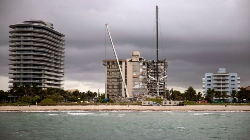 Champlain Towers is near the northern edge of Miami Beach.