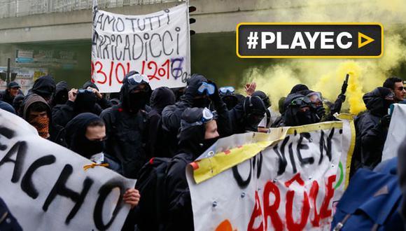 Centenares protestaron contra Marine Le Pen en Francia