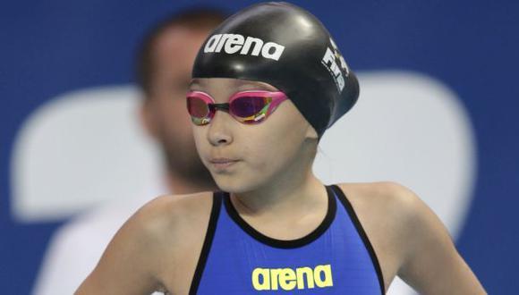 Niña de solo diez años debutó en Mundial de natación de Kazán