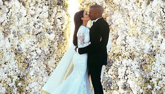 Kim Kardashian y Kanye West: las románticas fotos de su boda