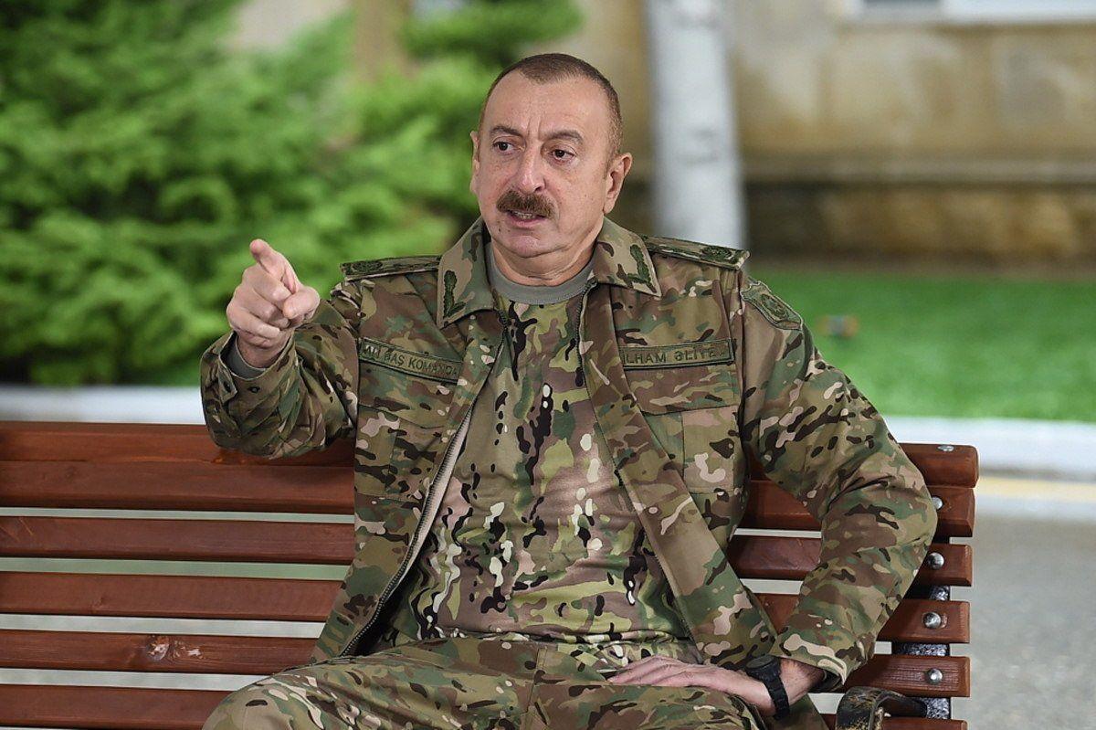 El presidente de Azeribayán, Ilham Aliyev, recibió el apoyo de Turquía en el conflicto militar con los armenios. (EFE)