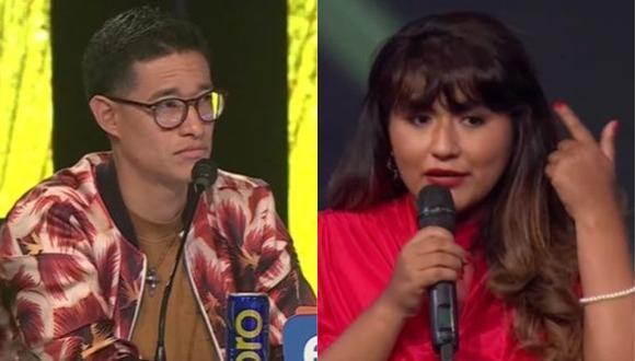 Imitador de Ángela Carrasco no estuvo de acuerdo y respondió a la devolución del jurado. (Foto: Captura de video)