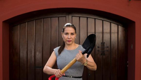 Mónica Saavedra  adelantó que AP se opondrá a propuesta de UPP de amnistía a Antauro Humala. (Foto: Leandro Britto Ramírez | El Comercio)