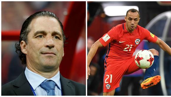 Marcelo Díaz sufrió un exceso de confianza en la jugada de generó el gol del título de Alemania en la Copa Confederaciones. El entrenador de 'La Roja', Juan Antonio Pizzi, evaluó su desempeño. (Foto: AFP)