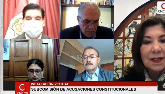 La Subcomisión de Acusaciones Constitucionales volverá a sesionar este viernes. (Imagen: Congreso TV)