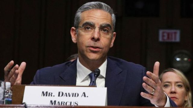 David Marcus, the executive in charge of Facebook's cryptocurrency project, appeared in the US Congress (Photo: Getty Image)