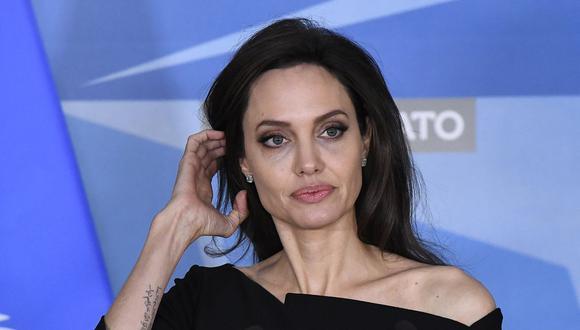 Angelina Jolie es captada visitando el departamento de expareja Lee Miller en Nueva York. (Foto: Emmanuel DUNAND / AFP)