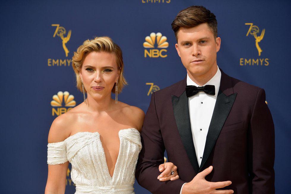 Scarlett Johansson and Colin Jost (Foto: AP)