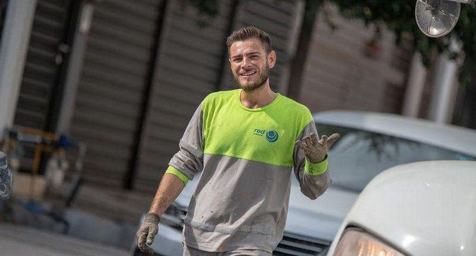 El atractivo físico de este joven, que trabaja como recolector de basura en las calles, llamó la atención de miles de usuarias en redes sociales | Foto: Facebook / Martha Idalia Zamora Quiroz