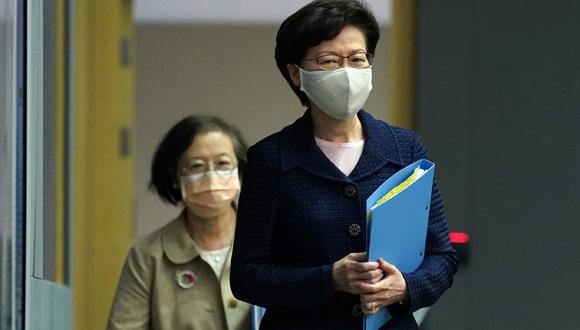 Carrie Lam, la líder de Hong Kong, asegura que a inicios de setiembre empezarán pruebas masivas de coronavirus. (Foto: Reuters)