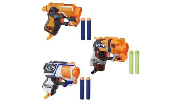 Hasbro ha lanzado en el Perú su nueva línea de lanzadores de dardos MicroShots de Nerf. Estos juguetes son réplicas en miniatura de modelos clásicos.