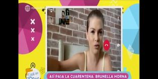 EET: Brunella Horna envía mensaje de concientización por COVID-19