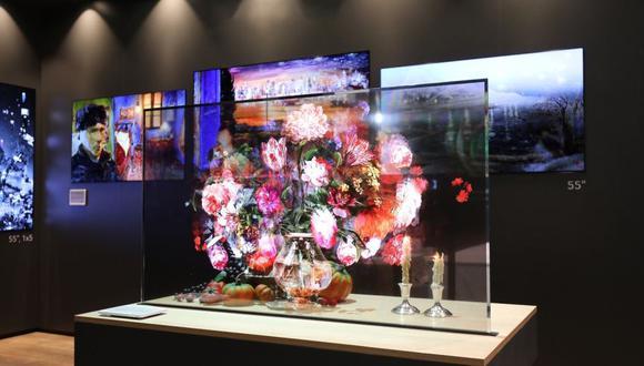 El televisor es capaz de transmitir imágenes en los dos lados. (Foto: LG)