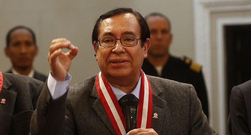 El juez supremo Víctor Prado fue elegido como presidente del Poder Judicial hasta diciembre del 2018. (USI)