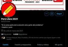 Pedro Castillo: precisan que el partido Perú Libre no tiene cuenta oficial de Twitter