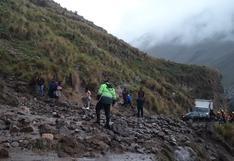 Huancavelica: huaico sepulta a maquinista cuando realizaba labores de limpieza