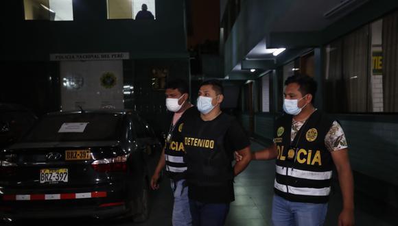 Uno de los hampones detenidos que tenia planeado asaltar unos almacenes en la zona industrial de Villa El Salvador. (Foto:  Hugo Pérez / @photo.gec)