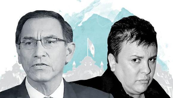 Este jueves, se revelaron audios del diálogo entre el presidente Martín Vizcarra con personal de su despacho, así como de Richard Cisneros -conocido como 'Richard Swing'- con Karem Roca. (Ilustración: El Comercio)