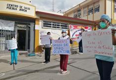 Abancay: médicos y enfermeras realizaron plantones de protesta en centros de salud y hospital