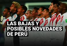 Conoce las bajas y posibles novedades de la selección peruana para la siguiente fecha de las Eliminatorias