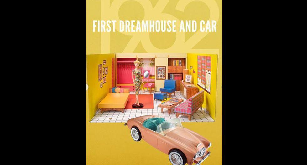 La primera casa de ensueño de la Barbie se creó en los años 60, y en un solo piso agrupaba áreas como la sala y la habitación. (Fotos: Instagram/ @barbie)