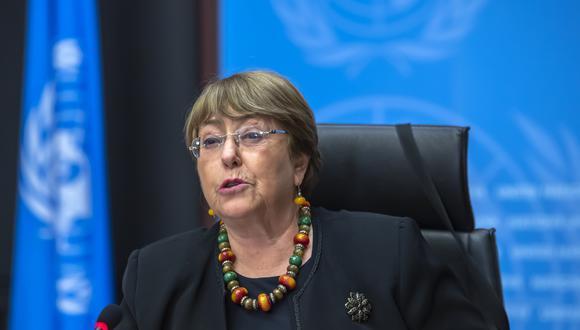 Michelle Bachelet, la alta comisionada por los Derechos Humanos de las Naciones Unidas. AP