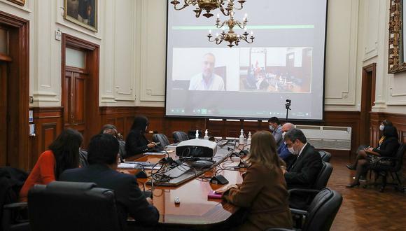 Vicente Zeballos encabezó la reunión con sus antecesores en la sede de la PCM. (Foto: Difusión)