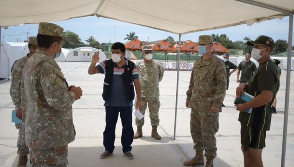 El Patio Obregón del Cuartel Leoncio Prado de la ciudad de Lambayeque será el escenario de vacunación (Foto: Gore Lambayeque)