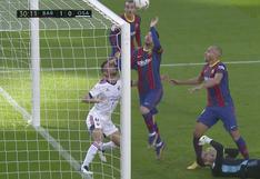 Barcelona vs. Osasuna: Lionel Messi intentó imitar 'La mano de Dios' en el gol de Braithwaite | VIDEO