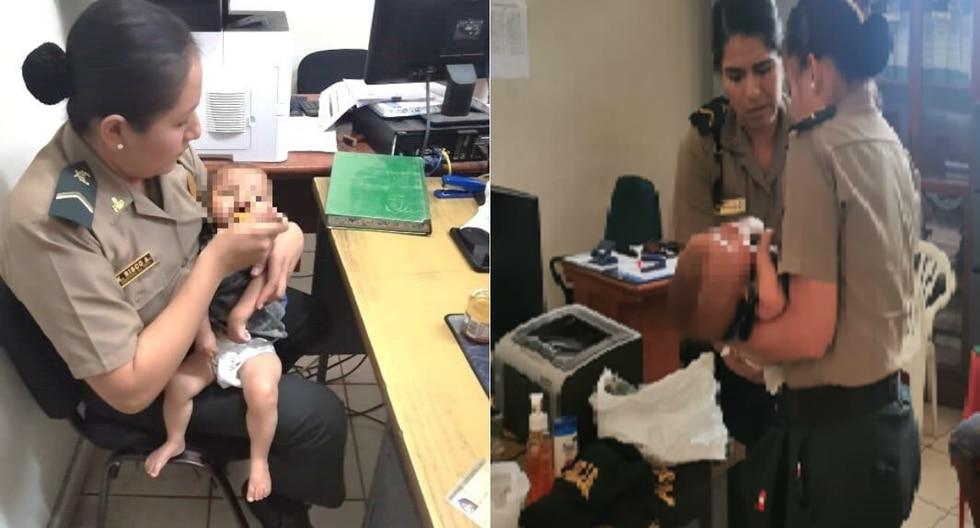 El bebé fue entregado a su madre, mientras que la niña está a la espera de que el Ministerio de la Mujer autorice su internamiento a un albergue. (PNP)