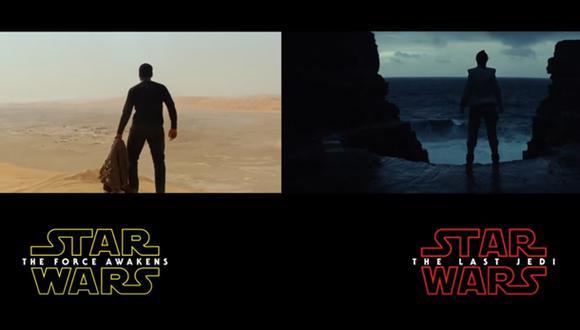 "Comparan tráilers de  ""The Last Jedi"" y ""The Force Awakens"""