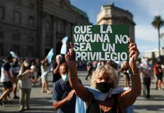 Argentinos protestan contra el Gobierno por el escándalo de las vacunas VIP | FOTOS