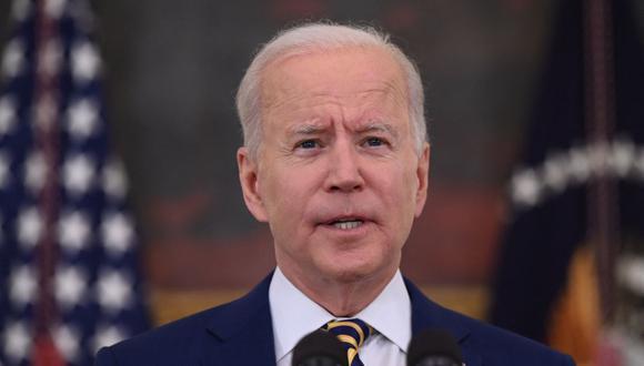 El presidente de Estados Unidos, Joe Biden, anunció la donación de más de 80 millones de vacunas contra el coronavirus COVID-19. (Foto: Jim WATSON / AFP).