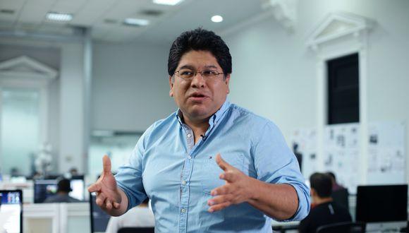 Rennan Espinoza adelantó una iniciativa de Somos Perú, que tendrá representación en el próximo Congreso. (Foto: Jesús Saucedo / El Comercio)