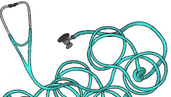 """""""Por la fragmentación y segmentación del sistema de salud peruano, la cobertura varía según subsistema y la prestación no está estandarizada"""". (Ilustración: Víctor Aguilar)"""